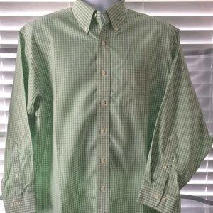 Brooks Brothers Green Gingham L/S Sz Large Shirt